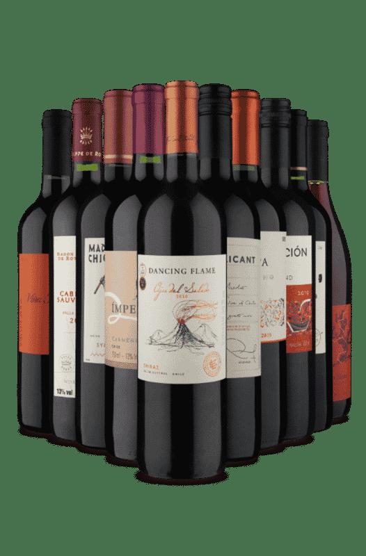 Kit Melhor Custo/Benefício de Tintos Chilenos (10 Vinhos)