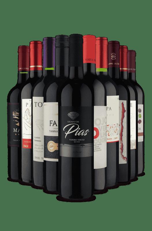 Kit Tintos Secos e Meio secos (10 Vinhos)