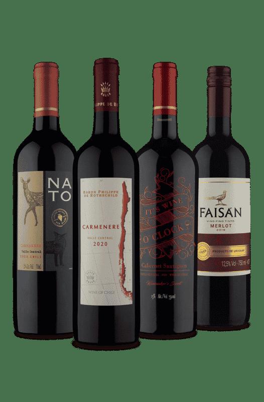 Kit Tintos Secos e Meios Secos Amérca do Sul (4 Vinhos)