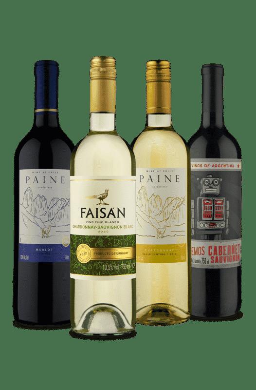 Kit Secos Tintos e Brancos (4 Vinhos)