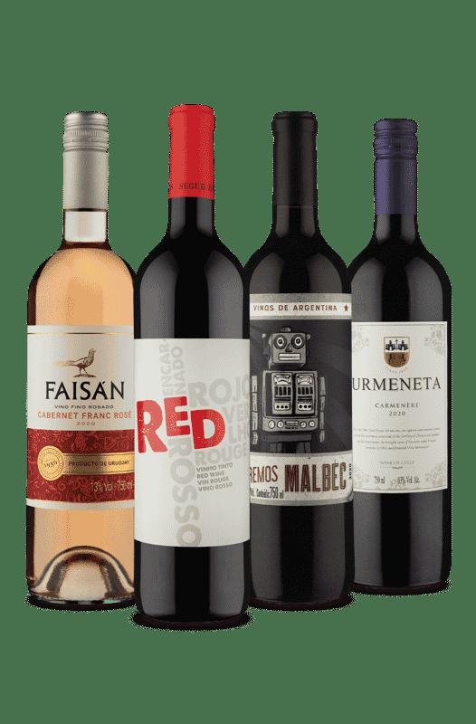 Kit Quarteto 1  Rosé em Meio a Tintos (4 Vinhos)
