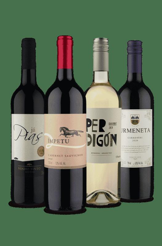 Kit Selecionados 3 Países (4 Vinhos)