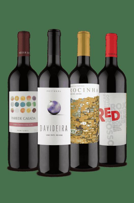 Kit Portugueses Tintos Uvas Nativas (4 Vinhos)