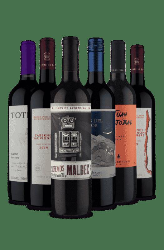 Kit Chile e Argentina Vinhos Secos (6 Vinhos)