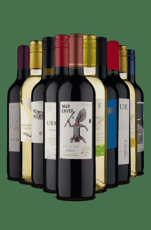 Kit 10 Vinhos Variados e Saboros (10 Vnihos)