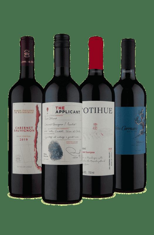 Kit Vinhos Tintos 1 Meio Seco 3 Secos (4 Vinhos)