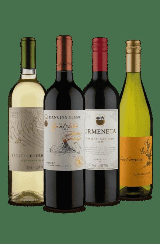 Kit 4 Uvas, 2 Tipos Chilenos (4 Vinhos)