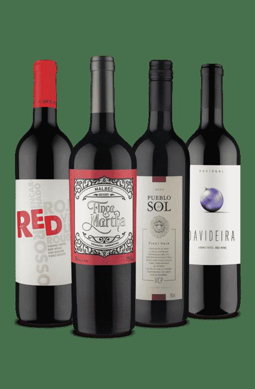 Kit 4 Tintos Uvas Variadas (4 Vinhos)
