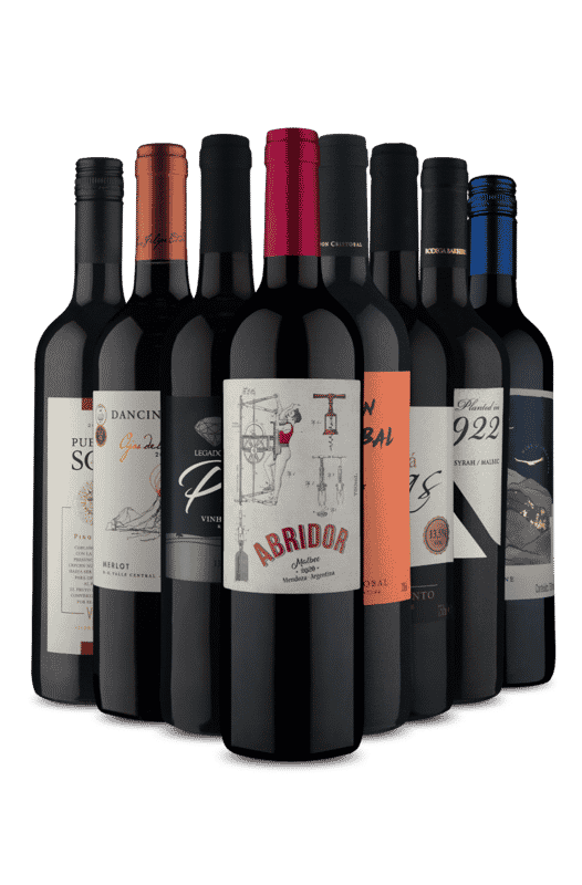 Kit 8 Tintos Degustando a Semana (8 Vinhos)
