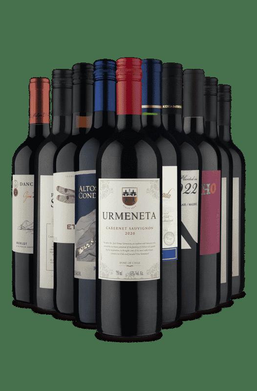 Kit 10 Tintos Presente Pro Coroa (10 Vinhos)
