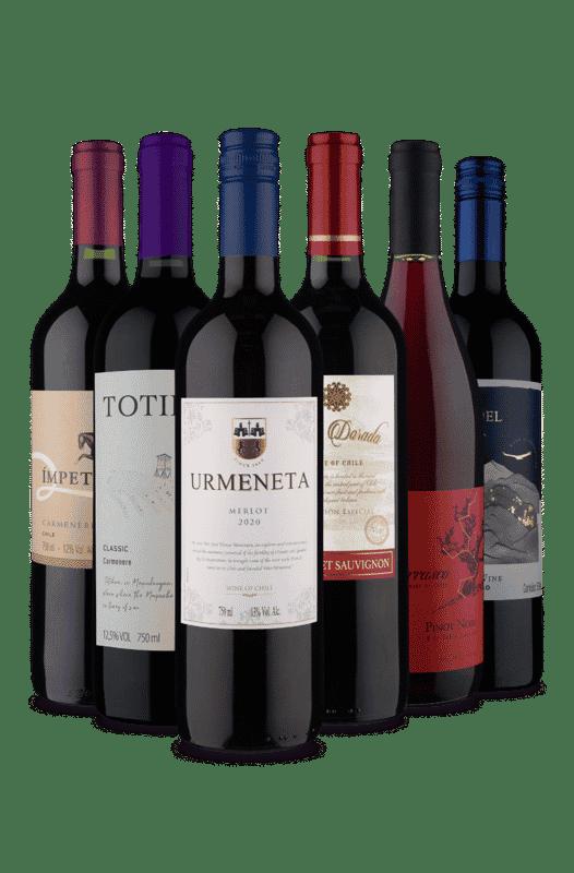 Kit 6 Tintos Muitas Uvas (6 Vinhos)
