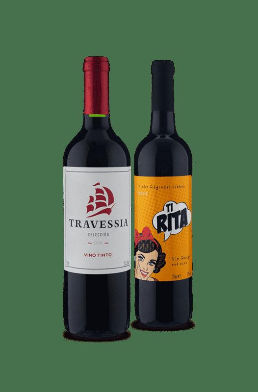 Kit 2 Tintos 2 Continentes (2 Vinhos)