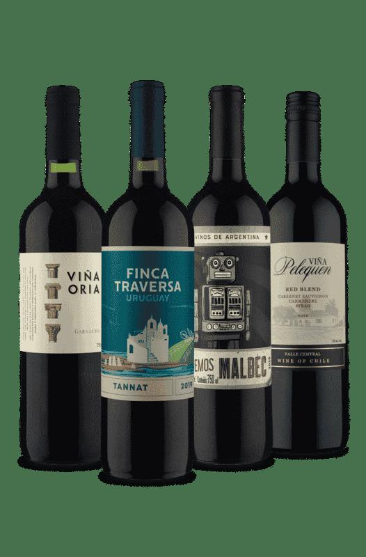 Kit 4 Tintos 4 Países (4 Vinhos)