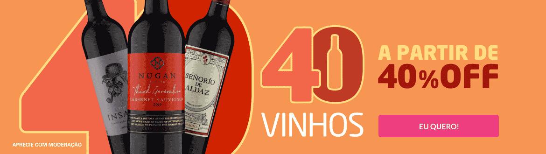 4º - 40 vinho 40 OFF - Clube