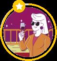 Ilustração do avatar de Estrela
